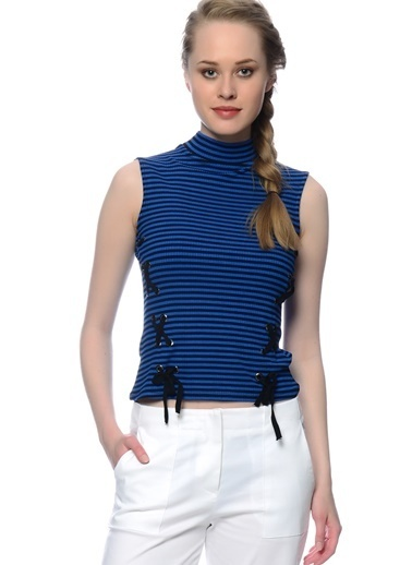 Black Pepper Kolsuz Tişört Mavi